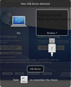 Mac USB Connection with Quartus II